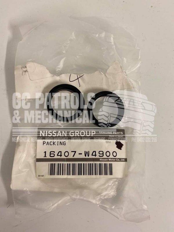 Genuine Nissan Patrol GQ GU Lift Pump to Fuel Filter Seal & Nissan Navara D22 QD32 TD27 16407W4900